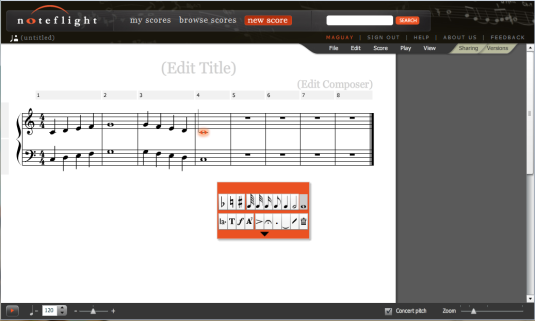 Sheet Music - Piano & Vocal (Write your own music) Full Color Flyer ...
