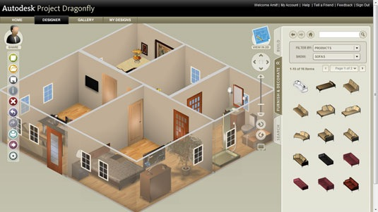 Online 3d home design software from autodesk create floor plans visualize interiors in 3d Easy home design program