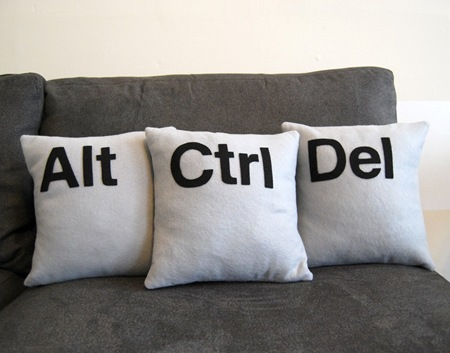Alt Ctrl Del Pillow