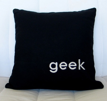 geek hand pillow