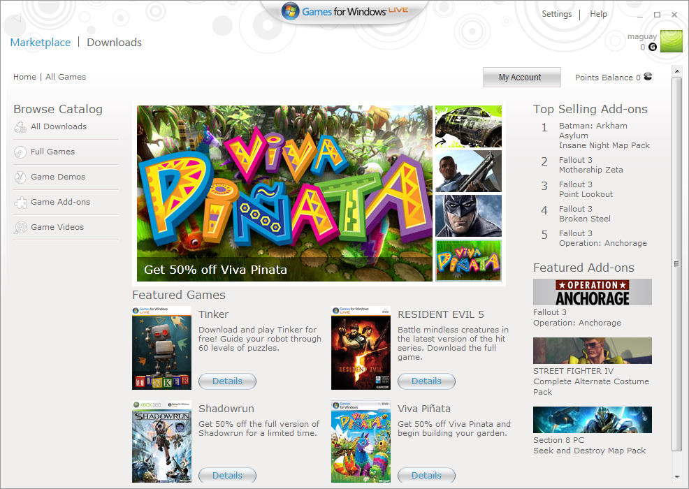 Games For Windows Live Market Download