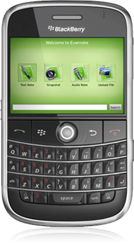 evernote running on blackberry