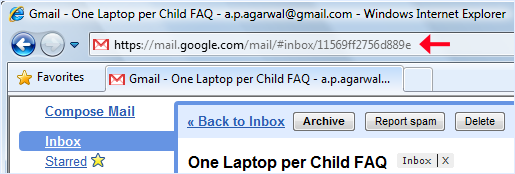 bookmark gmail emails