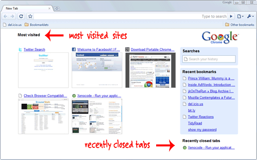 how to delete frequently visited sites google chrome
