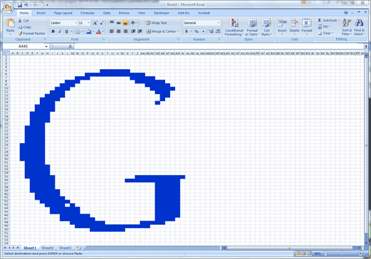 how to create art with microsoft excel