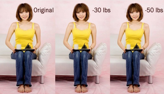 weight loss in photographs