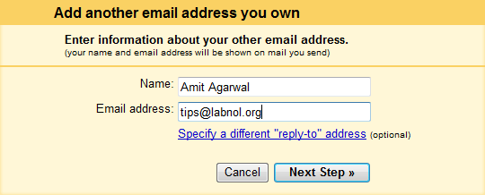 add email address