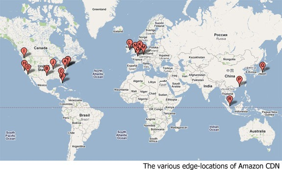 location of amazon cdn