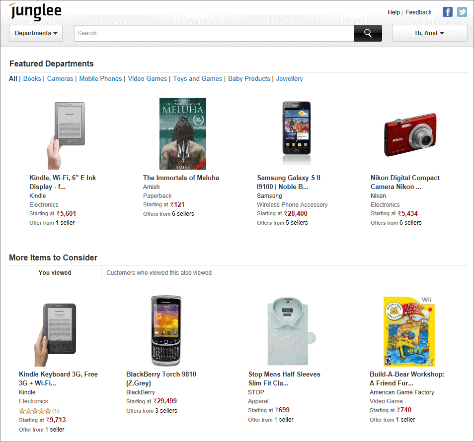 amazon india junglee