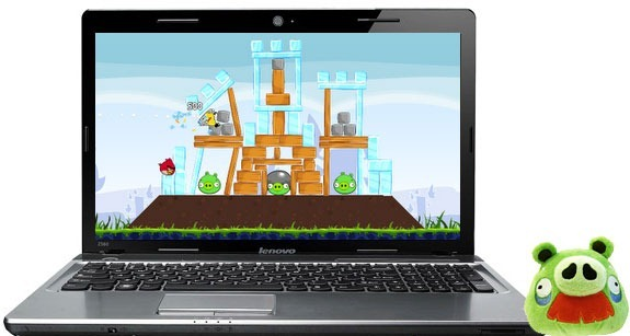angry birds on computer