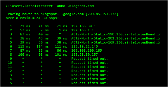 blogspot traceroute out