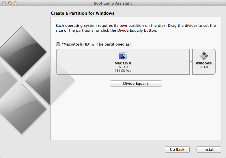 Create Windows 8 Partition on Mac