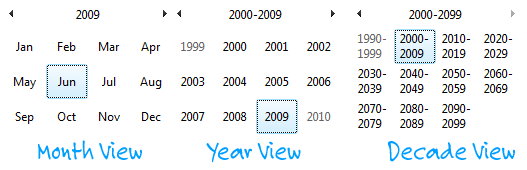 windows date calendar