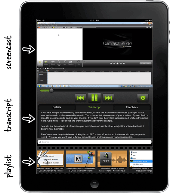 camtasia tutorials on ipad