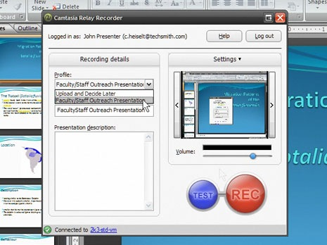 camtasia relay recorder
