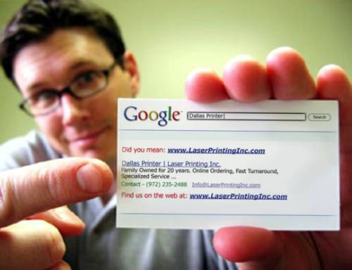 Put Google On Your Business Cards - Google business card template