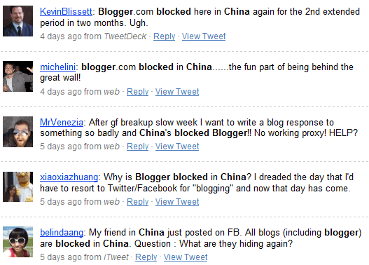 chinese bloggers on twitter