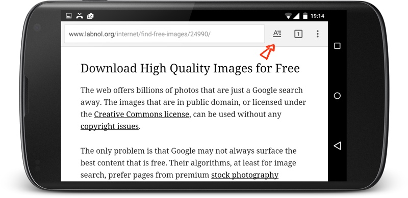 Read web pages without  the clutter