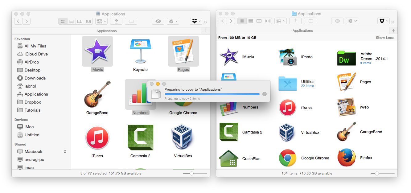 Copy Mac Apps