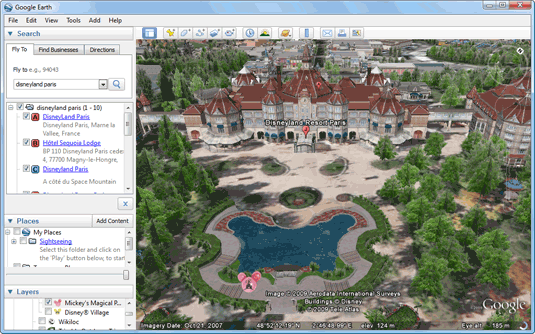 Take A 3d Virtual Tour Of Disneyland Via Google Earth