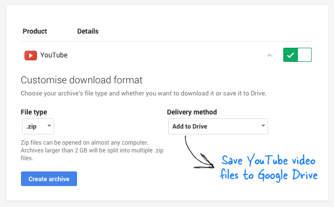 How to save your youtube videos to google drive download youtube videos to google drive ccuart Choice Image