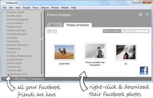 download facebook photos offline
