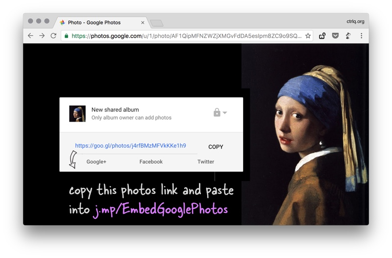 Embed Google Photos