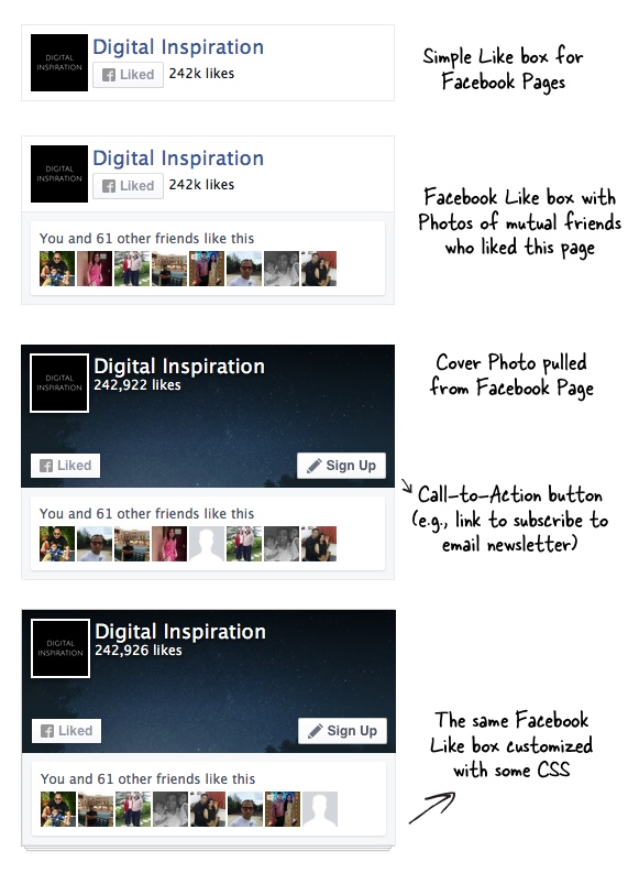 how to customize the facebook page plugin with css
