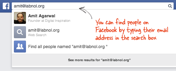 Find a person from an email address for free