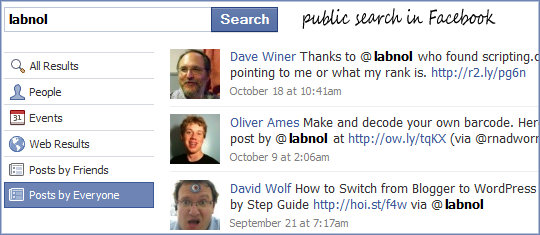 facebook public search