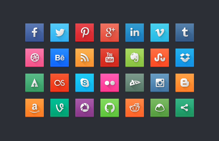 free-modern-social-media-icon-pack-squares