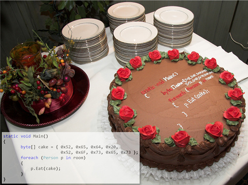 wedding cake for geeks