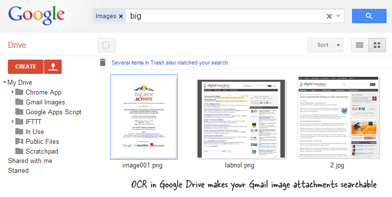 OCR for Gmail Image Attachments