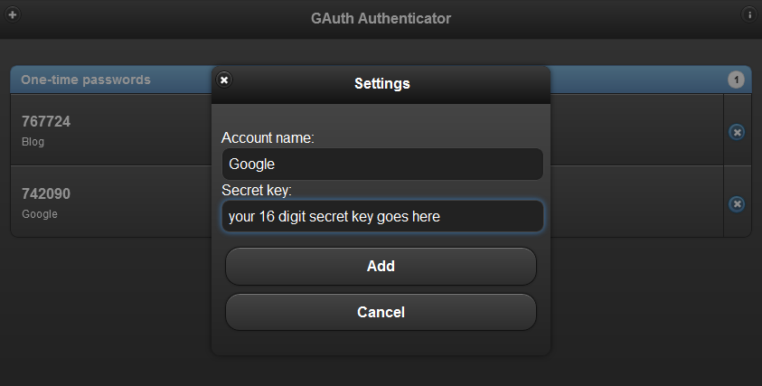 Google Authenticator on Desktop