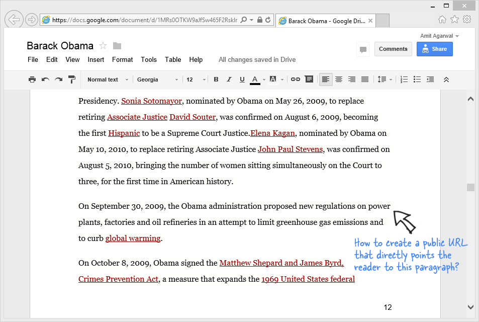 how to link to a specific paragraph of a google document With documents do google