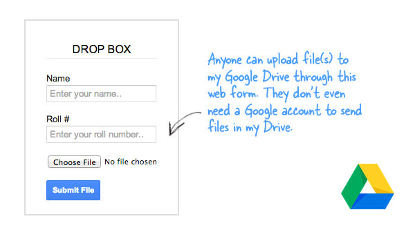 Drive Form with File Uploads