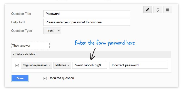 Password Protect your public Google Forms