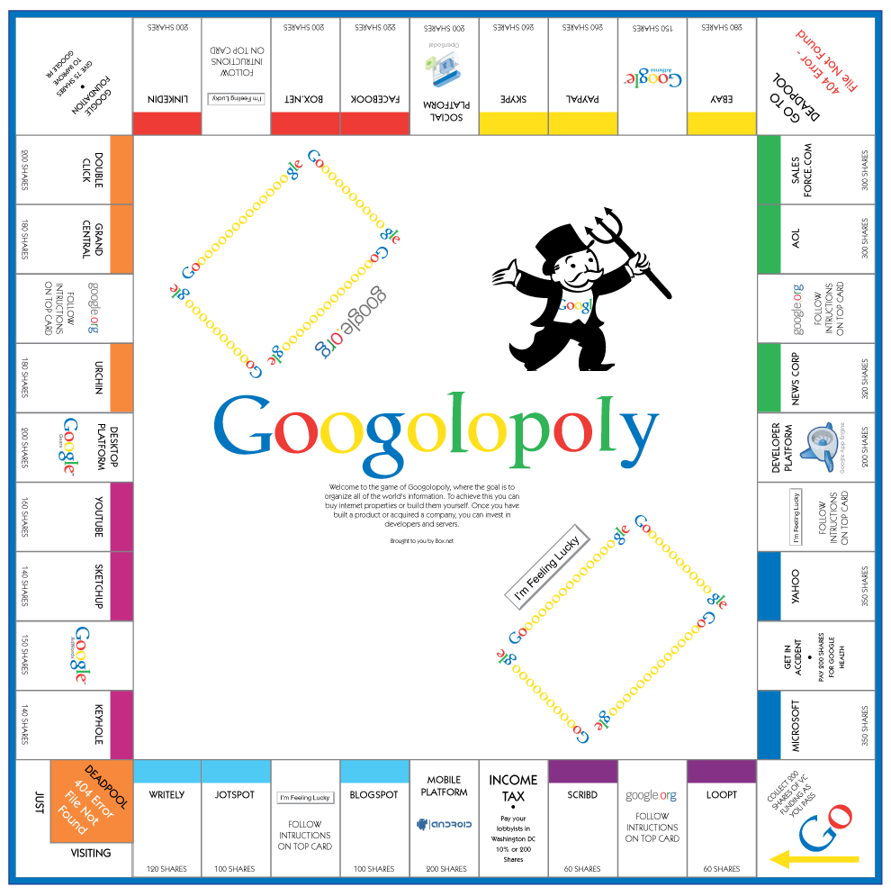image about Printable Monopoly Board referred to as Down load and Print Google Monopoly Board Activity - Googolopoly