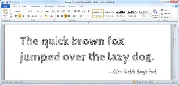 google fonts in microsoft office