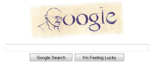 gandhi on google