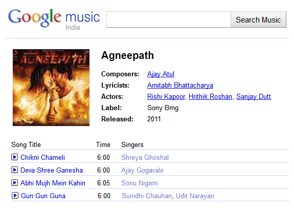 Google Abandons Music Search in India