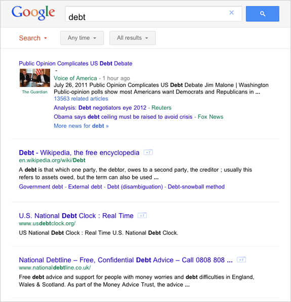 A Cleaner Layout For Google Search