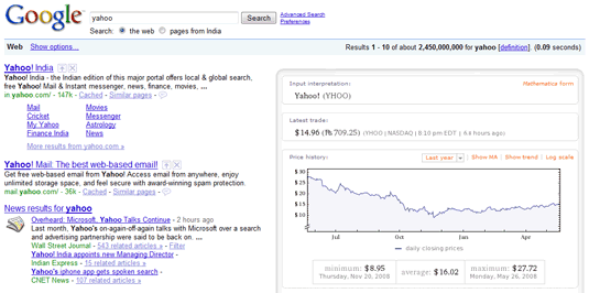 google and wolfram together