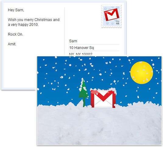 Google can help you send holiday greetings via snail mail for free holiday card from google m4hsunfo