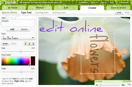 Add Text To Photographs Online Image Editor