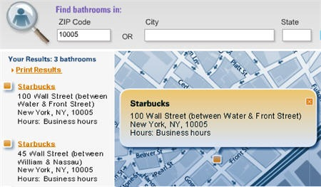 bathrooms in the city