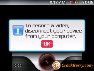 video recorder blackberry curve