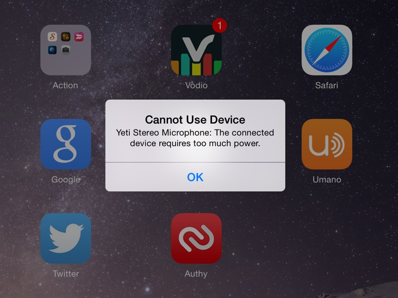iOS Requires Power