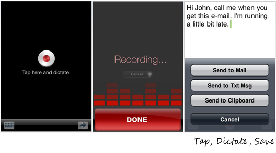iphone voice recognition app