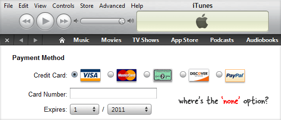 itunes credit card